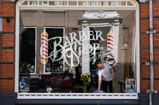 barbershop výloha